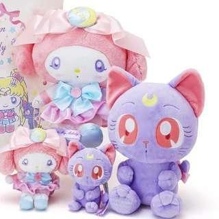 Sailor Moon X My Melody Collaboration Luna Plushie Plush