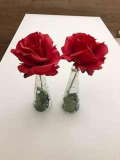 仿真玫瑰及花瓶