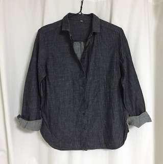 MUJI cotton denim shirt (OP: $280)