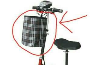 Escooter Electric scooter PMD Handlebar Seat Basket