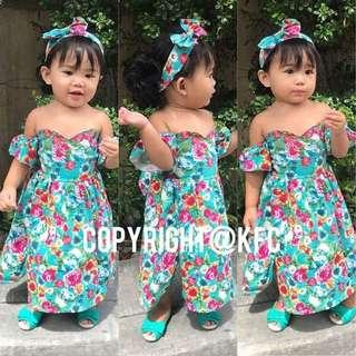 Yasmine dress with hairbow