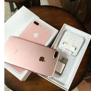 iPhone 7Plus 128gb Rosegold Openline & Complete package.