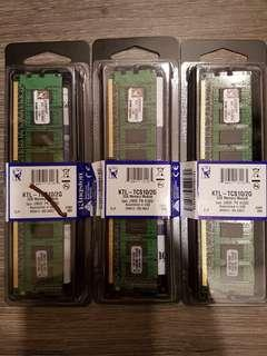 Kingston Desktop RAM DDR3 2GB (2pcs Left)