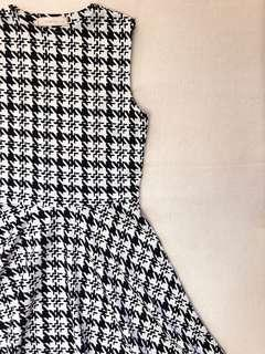 Houndstooth Fit and Flare Dress