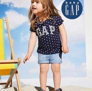 5Y BN Baby GAP Metalic Logo Tee