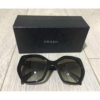Prada Women's Black Hexagon Sunglasses 0SPR 16R 1AB-0A7