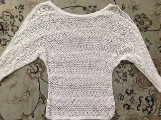 GUESS on/off shoulder crochet top size XS