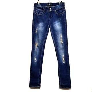 Bershka Dark Indigo Skinny Jeans