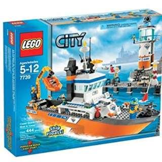 Lego 7739 Lego Coast Guard - Patrol Boat And Tower