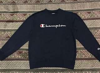 Crewneck Champion Embroidery Logo Navy