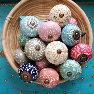 🚚 PO Moroccan Bohemian Peranakan Ceramic Drawer Knobs