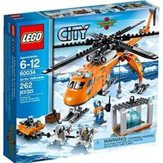 Lego 60034 Arctic Heli-crane Helicopter with huskies dogs
