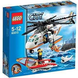 Lego 60013 - Coast Guard Helicopter - catamaran sailboat yacht rescue with white shark