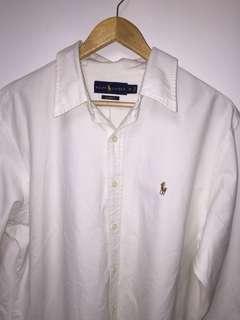 white Ralph Polo Lauren XL long sleeve button up