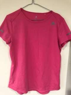 Pink females adidas climate t-shirt