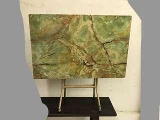 Vintage folding table in faux marble laminate