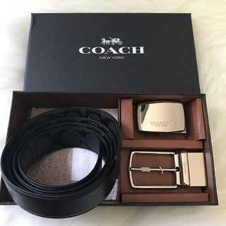 [OTW stock] COACH MEN BELT GIFT SET