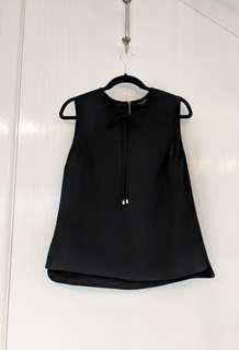 TED BAKER womens sleeveless black top. Like New. size 4 (AU12-24)