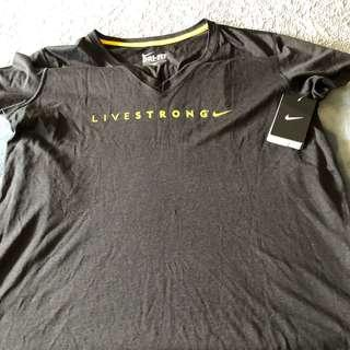 Nike Livestrong Black Athletic Shirt Size XL