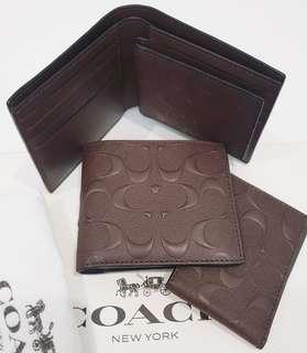 Coach wallet man original mahogany