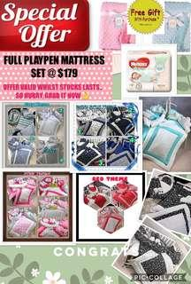 🚚 ⚡️⚡️LIMITED OFFER!! HURRY!! PURCHASE A FULL PLAYPEN MATTRESS COMFORTER SET+BABYNEST READYSTOCK & GET A FREE GIFT WHILST STOCKS LAST!!