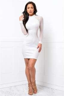 White Sheer Mini Dress