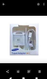 Original Samsung Travel Adapter with USB 1.0 Meter Cable