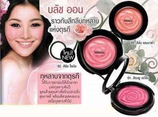 Mistine pure rose blush玫瑰花胭脂(02珊瑚橘色)🇹🇭泰國制✨全新📮包郵