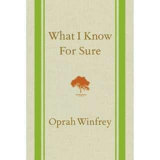 What I Know For Sure - Oprah Winfrey epub