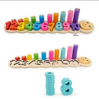 Montessori early maths wooden toy