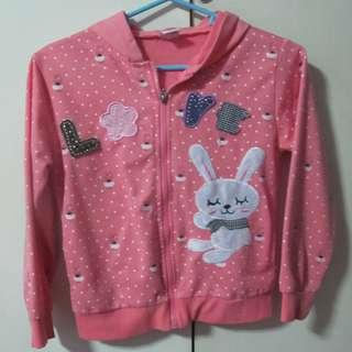 Big Joy hooded jacket for girls pink xl