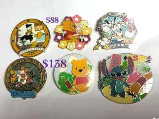 Disney Pin 迪士尼徽章襟章(價格請參考內容) Pooh