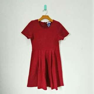 Maroon Basic Dress