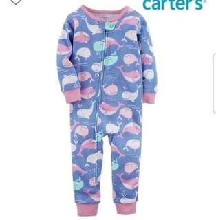 18M BN Carter's Whale Snug Fit Footless Sleepsuits