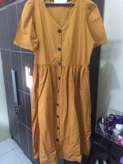 Z*ra look a like button dress