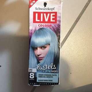 hair dye baby blue x2