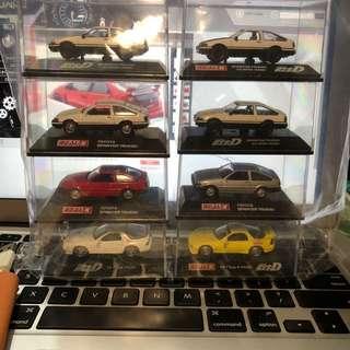 1/72 initial D ae86, Mazda rx7 fd,rx7 fc