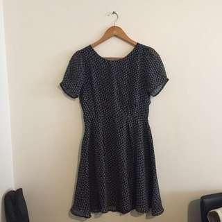 dotti navy dress