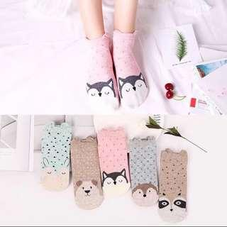 Korean cute 3D animal socks