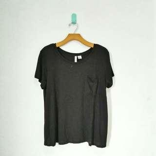 HnM Black Pocket Tee