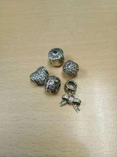 Take all pandora inspired charm 100% 925 ALE silver preloved charms