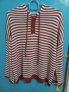 stripes hoodie warna brick #yukjualan