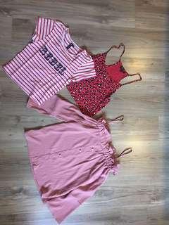 Red n pink tops