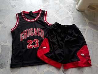 4-7yrs old Black 23 Jersey with pant