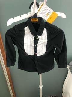 Sale H&M black and white shirt 4-5y