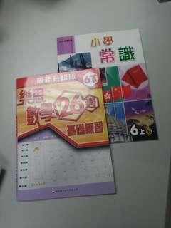 樂思6下數學練習 全新 送 新亞洲6上B常識書
