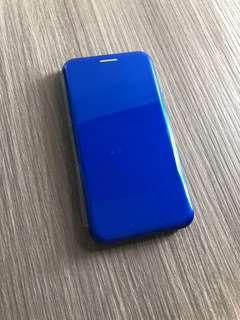 🚚 iPhone X cover flip blue