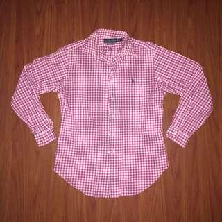 Ralph Lauren Pink Striped Polo