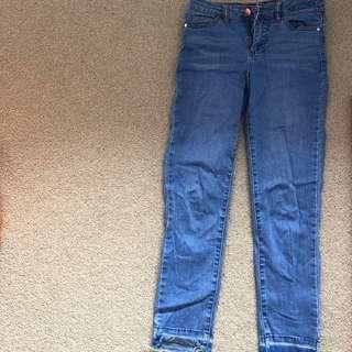 Denim skinny jeans size 6