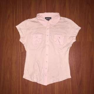 Express Jeans Pink Polo